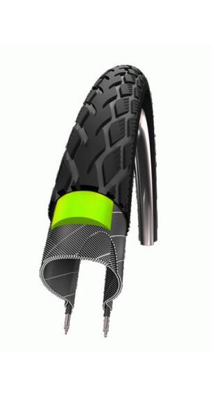 "SCHWALBE Marathon Green Guard dæk Performance 28"" x 1 1/2"" ståltrådskant refleks  sort"
